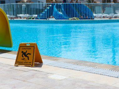 chute piscine
