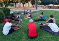 Une séance du programme Potenti'elles, que lance l'association Kabubu en région parisienne.