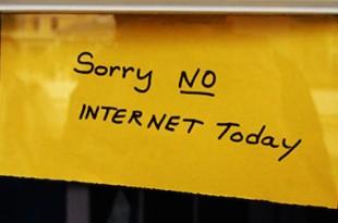 "sticker ""Sorry, no Internet today"""