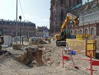 Strasbourg, chantier place du château, ELLE CC  BY SA 3.0