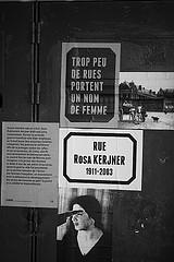 égalité homme-femme, photo prise à Rennes.