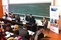 De gauche à droite: Anny Flachier, Christine Trossero, Yvan Grasso, Cyril Yerolimo, Françoise Astier, Grégoire Türkiewicz, Hervé Jouanneau (journaliste), Régis Fonlupt