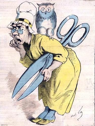 Les ciseaux de Madame Anastasie, André Gill