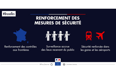 La Belgique frappée par le terrorisme, la sécurité renforcée en France