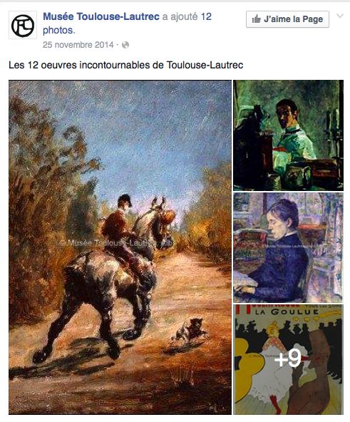 Page Facebook Musée Toulouse-Lautrec copyfraud