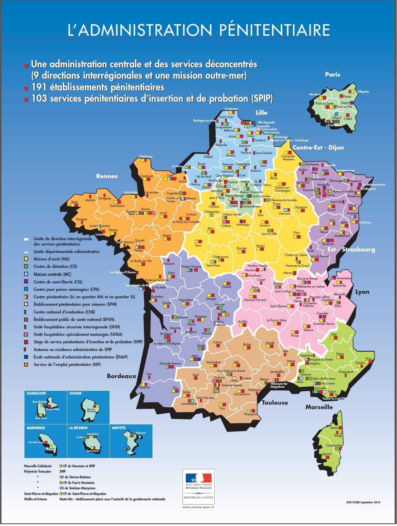 carte  u2013 la pr u00e9paration de la r u00e9insertion des detenus