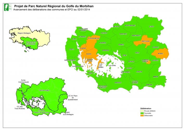 Carte du PNR du Morbihan