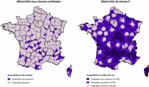 Source Irdes, Distances et temps d'accès aux soins  en France métropolitaine, avril 2011