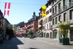 La place Saint-Léger, à Chambéry (Savoie)