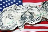 Billet de 1 dollar froissé
