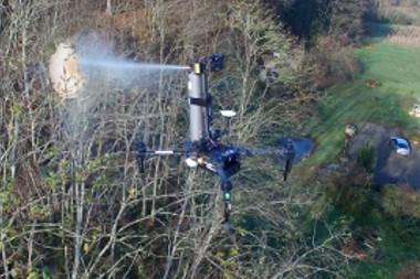 Un drone chasseur de frelons asiatiques