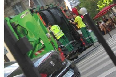 collecte éboueurs en ville