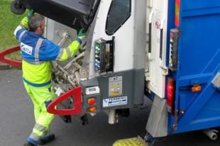 Colecte des déchets par les éboueurs