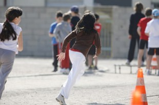 Cours de sport à l'école