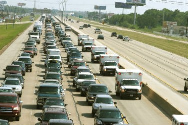Evacuation population voitures houston rita