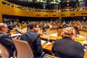 Ici à Strasbourg, Matthias Fekl tient à participer aux débats organisés au sein des territoires sur le traité transatlantique.