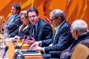 Au centre: Matthias Fekl, lors d'un débat organisé par la municipalité de Strasbourg.
