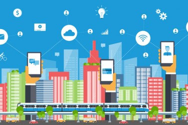 business smart city.internet connection.social concept