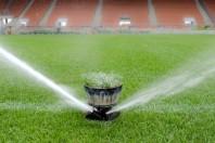 Watering turf
