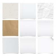 Collection of note papers background.