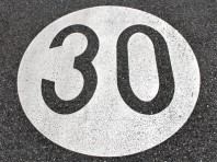 speed limit sign 30