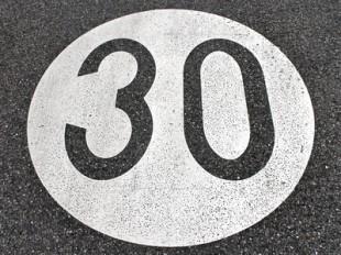 speed limit sign 30