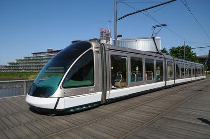Le tramway de Strasbourg.