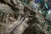 chantier - travaux d'assainissement