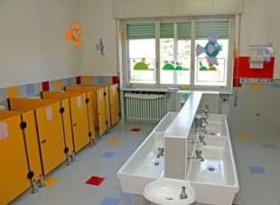 sinks for cleaning of infants within a nursery