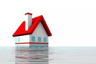 House under water