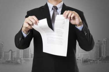 businessman destroy document