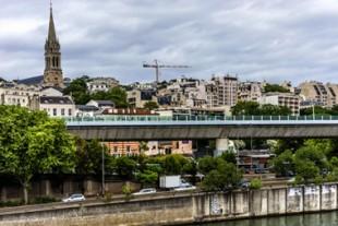 La ville de Saint-Cloud (Hauts-de-Seine).