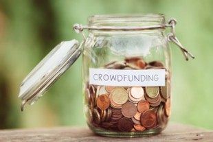 Crowdfunding money jar image