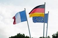 Drapeaux France Allemagne Europe