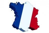 Carte de France bleu blanc rouge