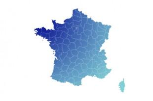 Carte de France départementale