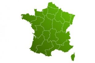 Carte de France régionale