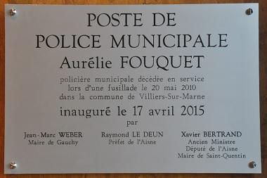 La ville de Gauchy baptise son poste de police du nom d'Aurélie Fouquet
