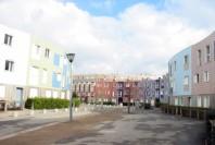 La rue du Labyrinthe, à Grigny