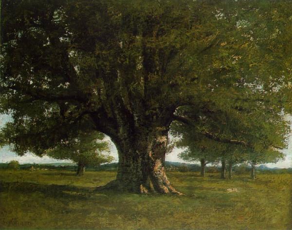 Le Chêne de Flagey, Gustave Courbet (1864), musée d'Ornans, CC.0