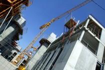 Construction HLM en contre-plongée