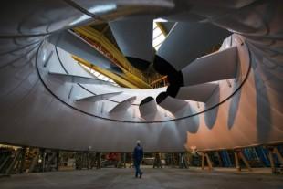 Hydrolienne : turbine sous-marine produisant de l'électricité grâce aux courants.