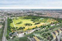 A Rouen, sur un ancien champ de courses de 28 hectares, la métropole fait aménager un grand parc urbain.