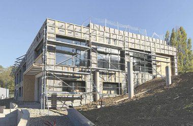 Le nouveau siège français de l'équipementier KTR en plein chantier.