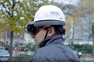 Le casque affiche en réalité augmentée les réseaux électriques. Un gain de temps important pour les techniciens.