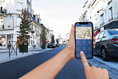 Le centre-ville de Soissons est équipé de capteurs vidéo par analyse d'images. Sur l'appli, la cartographie des places disponibles est fournie en temps réel.