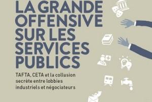 """Capture d 'écran du rapport """"La grande offensive sur les services publics"""""""