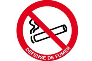 panneau interdiction fumer