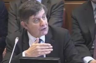 Jean-Pierre Jouyet, directeur général de la Caisse des dépôts, lors de son audition devant la commission des finances de l'Assemblée