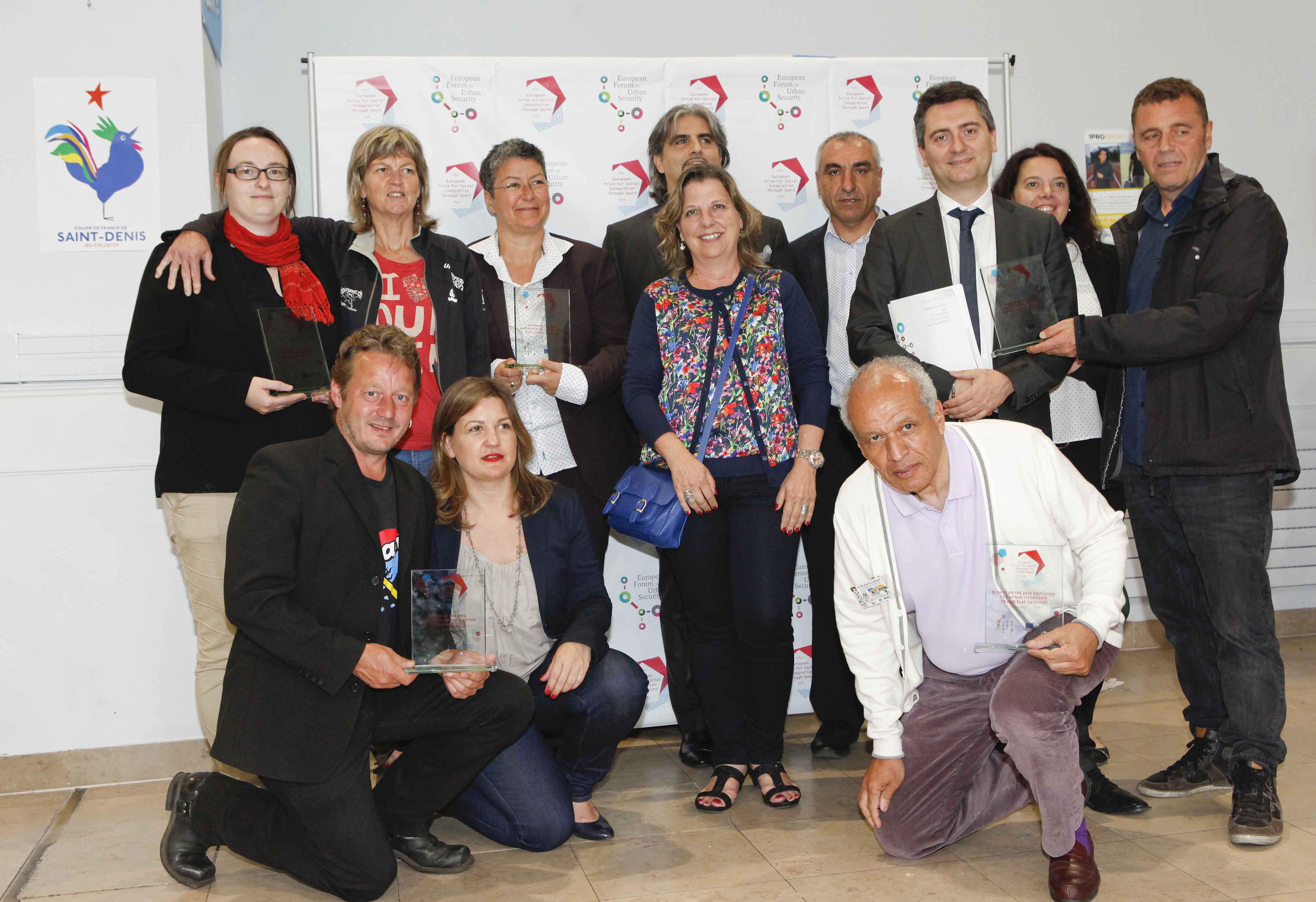 Les 5 lauréats du prix européen de l'intégration sociale par le sport